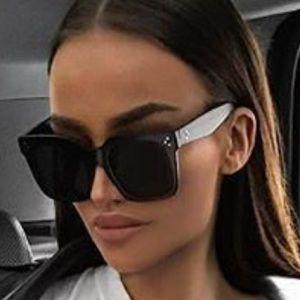 Designer sunglasses black oversize
